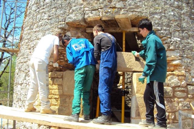 eco construction mise en place de linteau