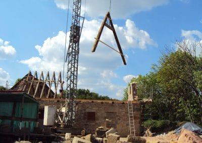 Réalisation de la toiture de la maison neuve du Mas de Charles-Livernon