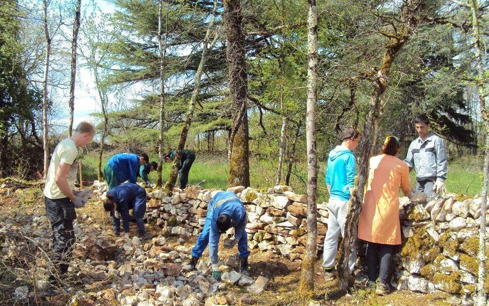 formation eco construction Lot - murets pierre sèche