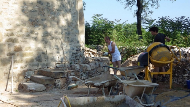 eco construction formation Lot - maçonnerie Pierre sèches et Pierres hourdée