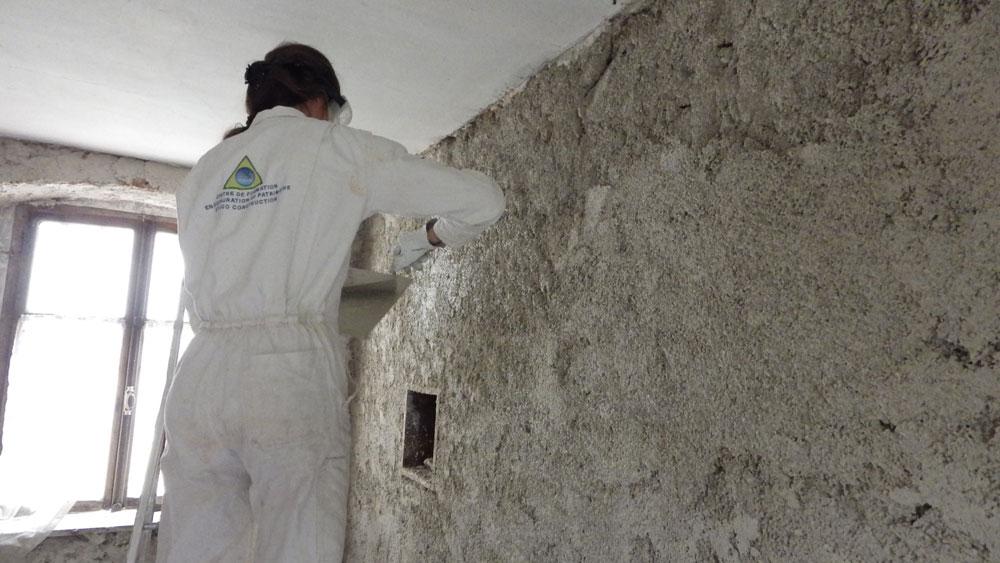 eco construction formation enduits chaux/chanvre et badigeons