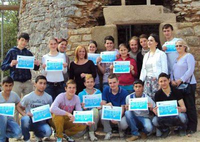 Attestation de stage pour les élèves du collège CACAU Roumanie