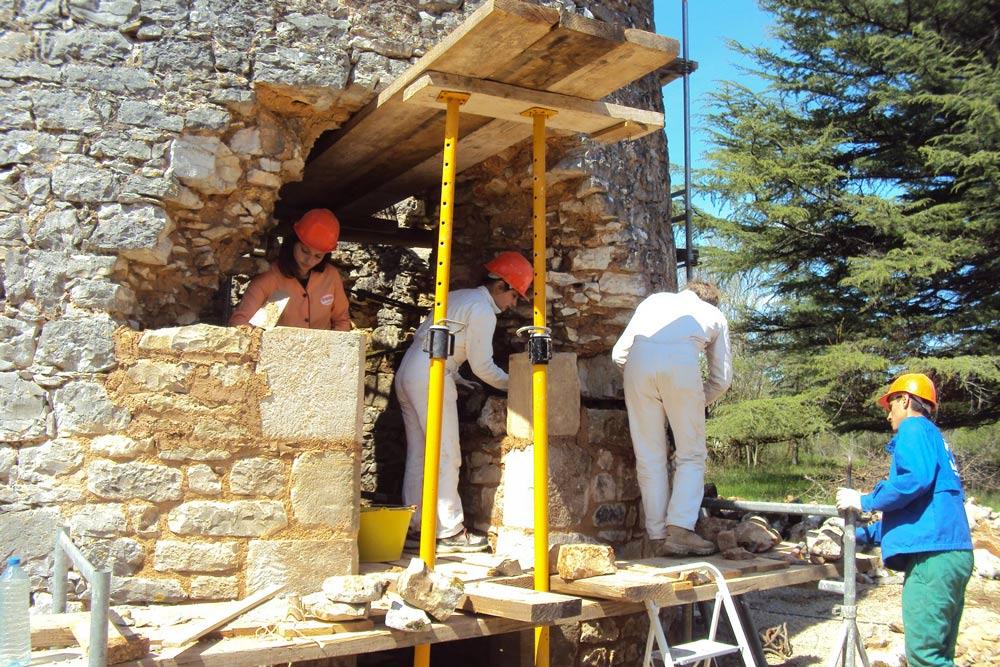 eco construction formation maçonnerie pierre sèche et pierre hourdée