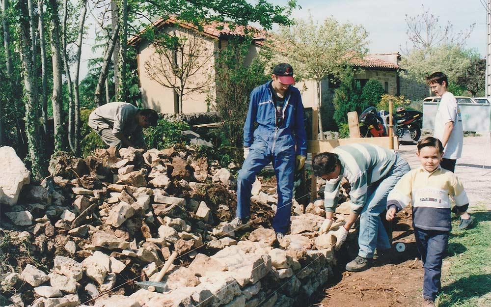 eco construction formation pierre sèche et hourdée