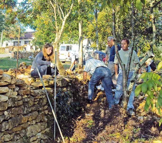 formation eco construction maçonnerie pierre sèche et pierre hourdée Lot