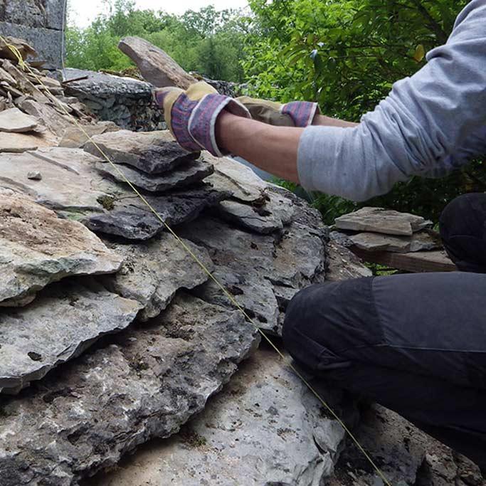 formation eco construction pose de Lauzes calcaires Lot